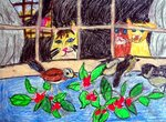 """Пальмер Анастасия (рук. Овсянникова Светлана Ивановна) - """"Коты и воробьи"""""""