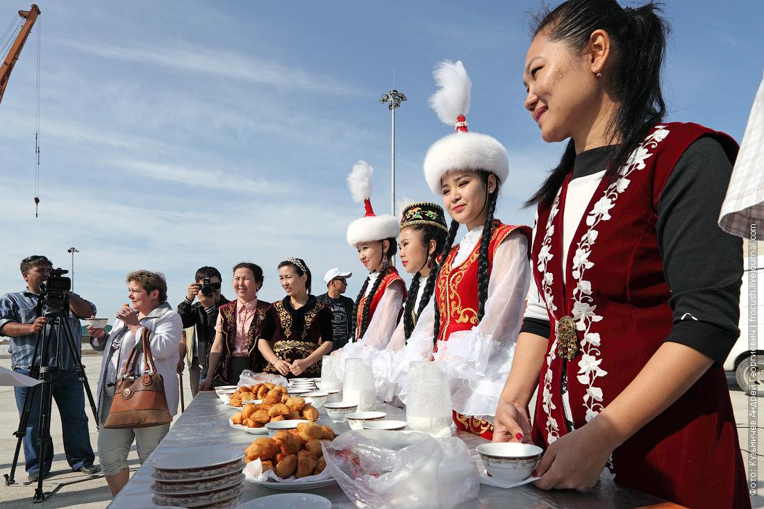 встреча речных туристов теплохода Русь Великая на казахской земле