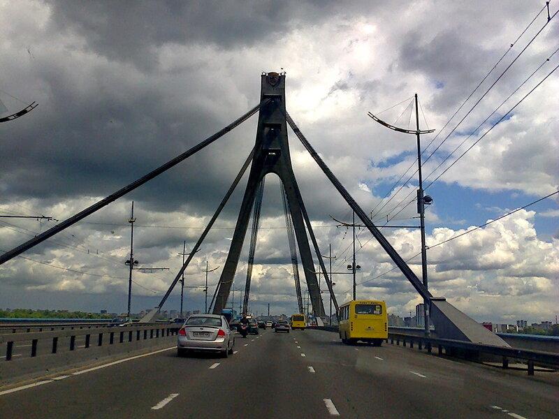 Московский мост через Днепр.
