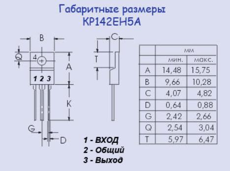 Стабилизатор КР142ЕН5А. Описание, характеристики и схема включения 0_14fbdf_7bfec361_orig
