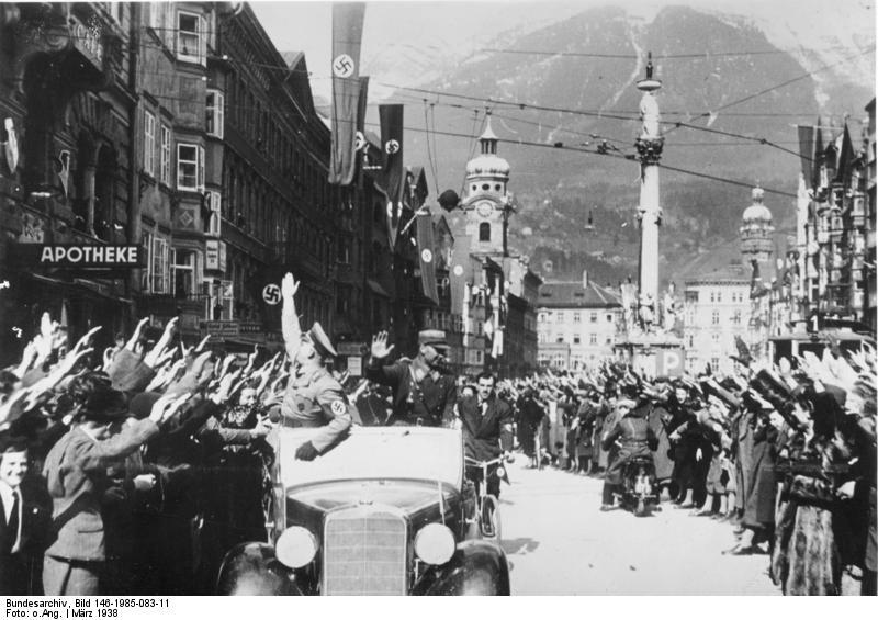 Аншлюс нацистской Германии с Австрией 1938 года