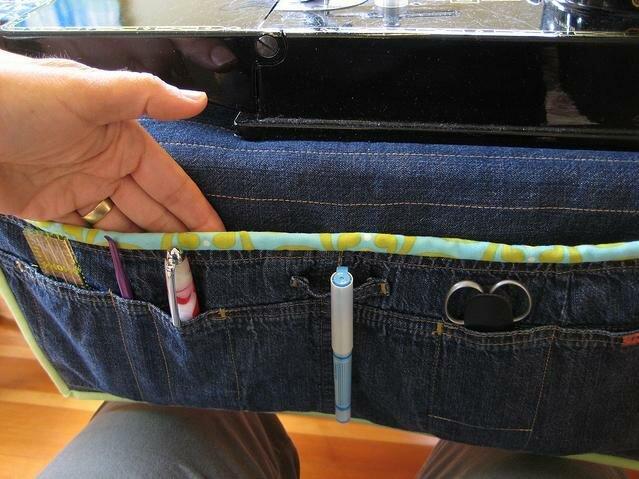 Органайзер из джинсовых брюк. Organizer of denim jeans.