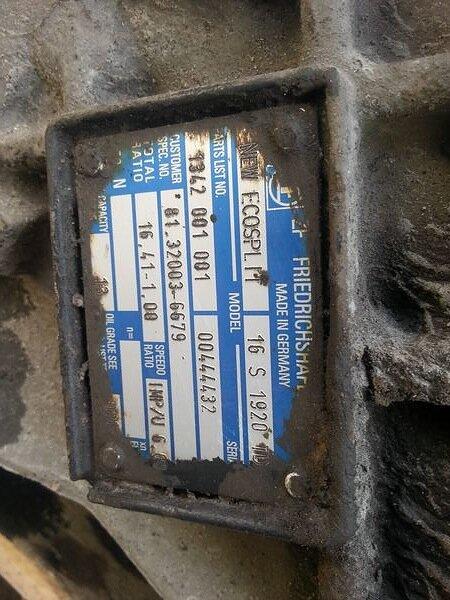 Коробка передач для ман тга 19.410 ZF 16S1920TD 16.41-1.00