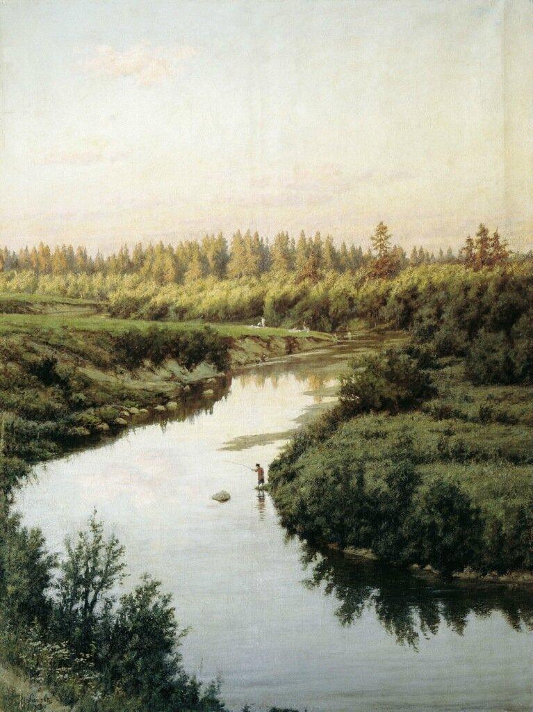 Пейзаж с рекой. 1900, холст, масло, 145х110 см.jpg