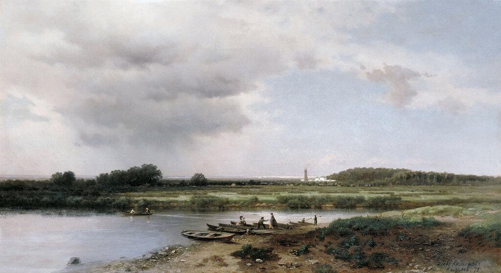 Вид на реку Казанку. 1875, холст, масло, 65х120 см.jpg