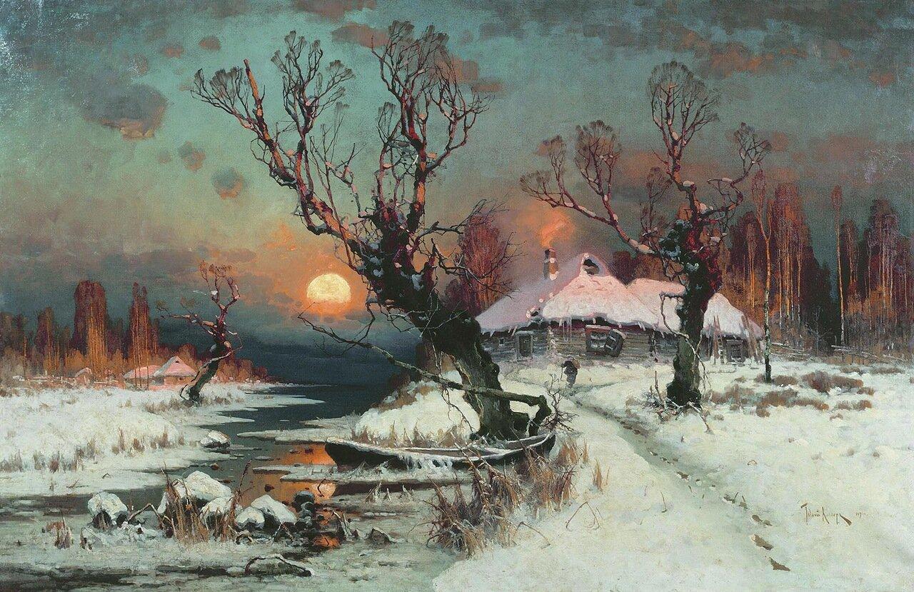 Закат солнца зимой. 1891. Холст, масло.jpg