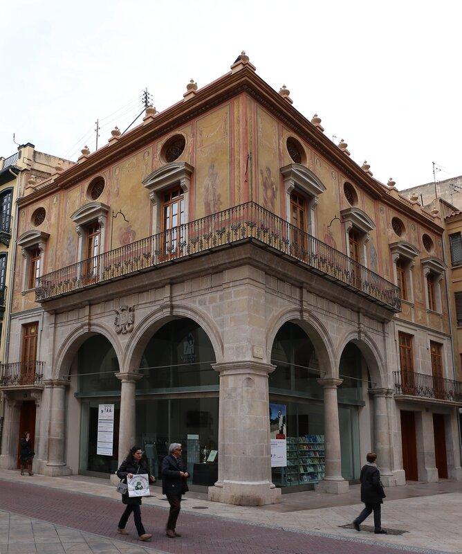 Кастельон-де-ла-Плана.  Плаза Майор. Plaza Mayor. Конопляная Биржа, Lonja del Cáñamo