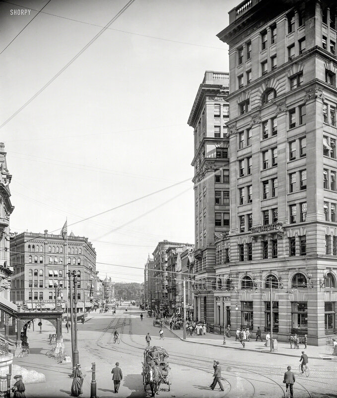 Syracuse, New York, circa 1904. Genesee Street