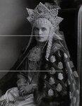 Баронесса Э.В.(Эмма Елена София) Фредерикс в костюме боярышни XVII века. Портрет.