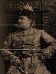 Князь, адъютант великого князя Николая Николаевича-младшего П.Б.Щербатов в костюме боярина XVII века. Портрет.