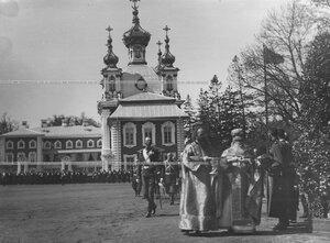 Молебен на храмовом празднике Конно-гренадерского полка.