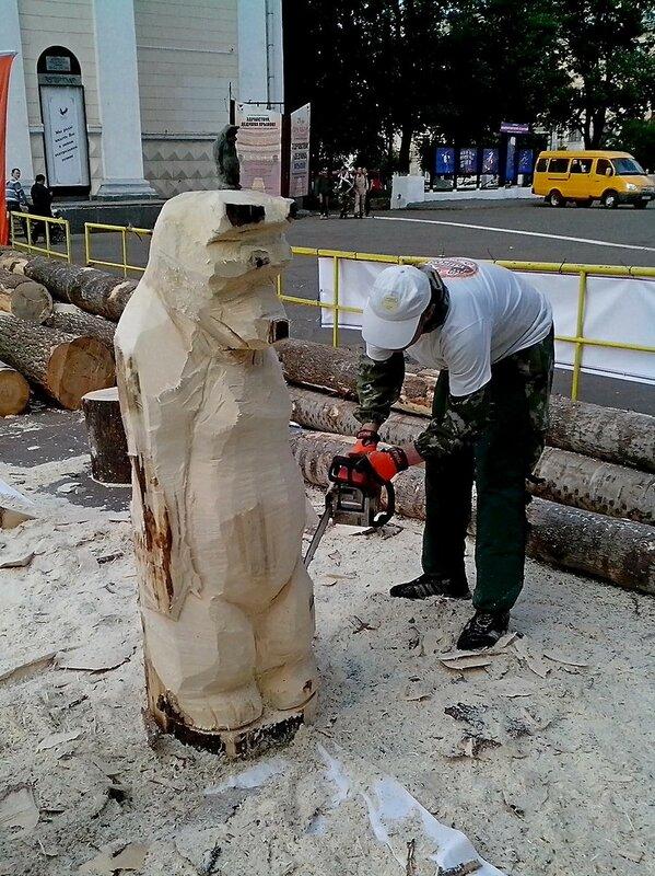 выпиливание фигуры медведя - конкурс «Лесная сказка»