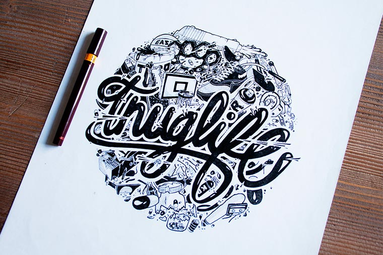 Chill Out - The hand lettering by Nairone