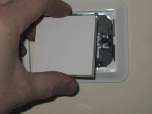 Фото 39. Установка клавиши нового переключателя.