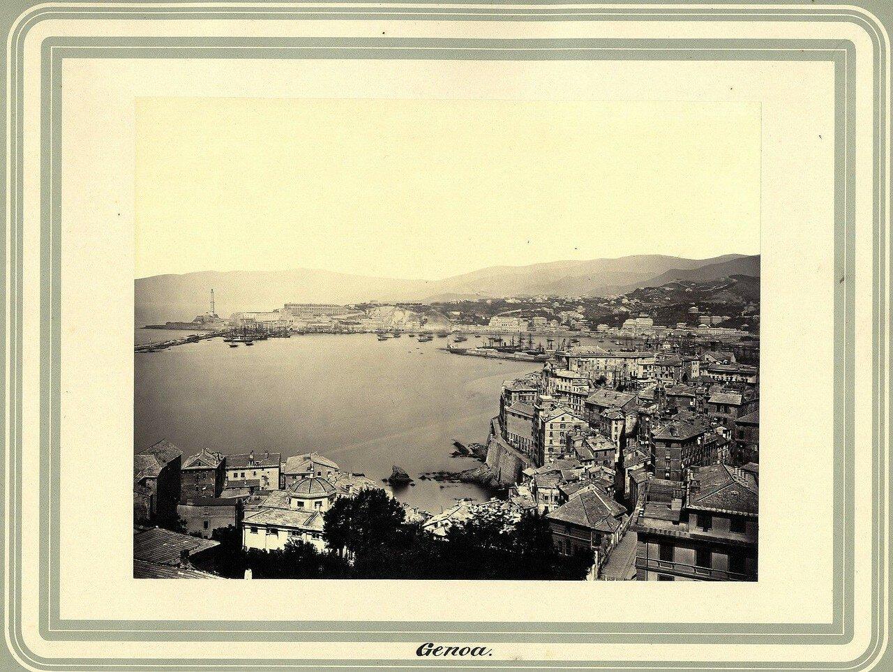 Генуя. Панорама города. 1860