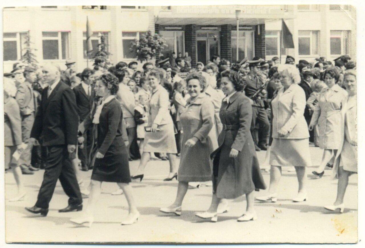 1970-е. 1мая, центральная площадь