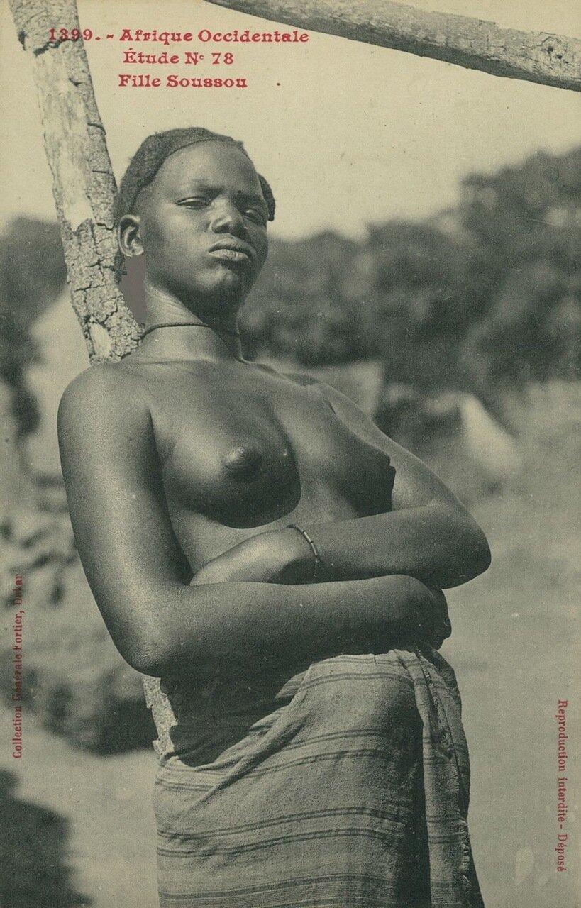 Французская Экваториальная Африка. Женщина племени сусу