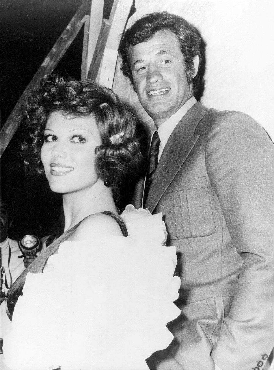 Claudia CARDINALE und Jean-Paul BELMONDO, Nizza 1972