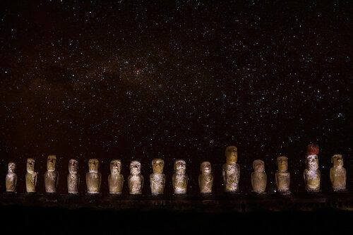 Моаи и Млечный путь
