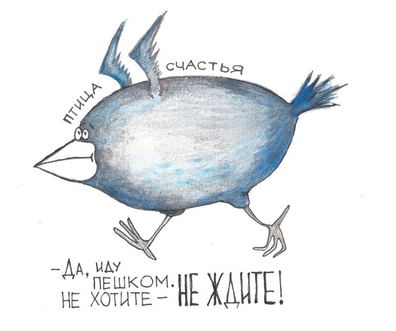 Открытка я синий птицы, картинки дням недели