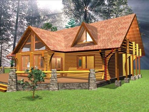 Дома из дерева красивы и экологичны