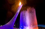 39 Факел в брызгах фонтана