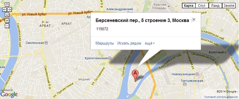 Карта проезда к хостелу