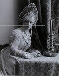 Княгиня З.Н.Юсупова графиня Сумарокова-Эльстон в костюме боярыни XVII века. Портрет.