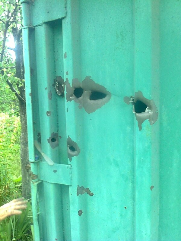 последствия обстрела станицы луганской