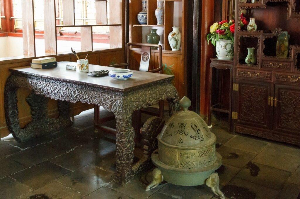 Кабинет, традиционный китайский интерьер, китайская мебель