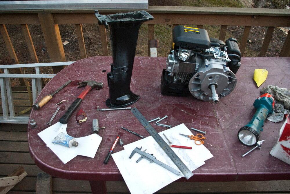 Лодочный мотор из газонокосилки своими руками видео