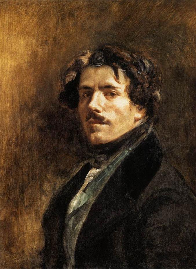 selfie / Self-portrait / Автопортрет, Эжен Делакруа / Eugene Delacroix, 1840