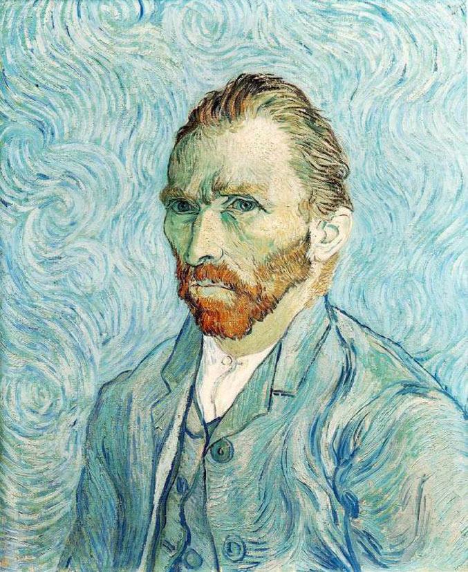 selfie / Self-portrait / Автопортрет, Винсент ван Гог / Vincent van Gogh, 1889