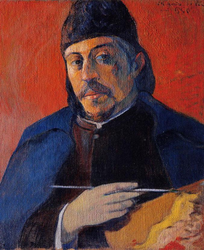 selfie / Self-portrait / Автопортрет с палитрой, Поль Гоген / Paul Gauguin, 1894