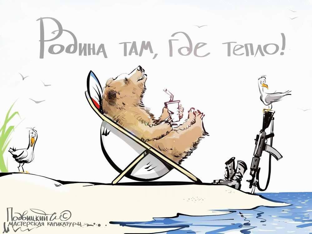 Россия и Украина - Карикатурист Виталий Подвицкий  (02)