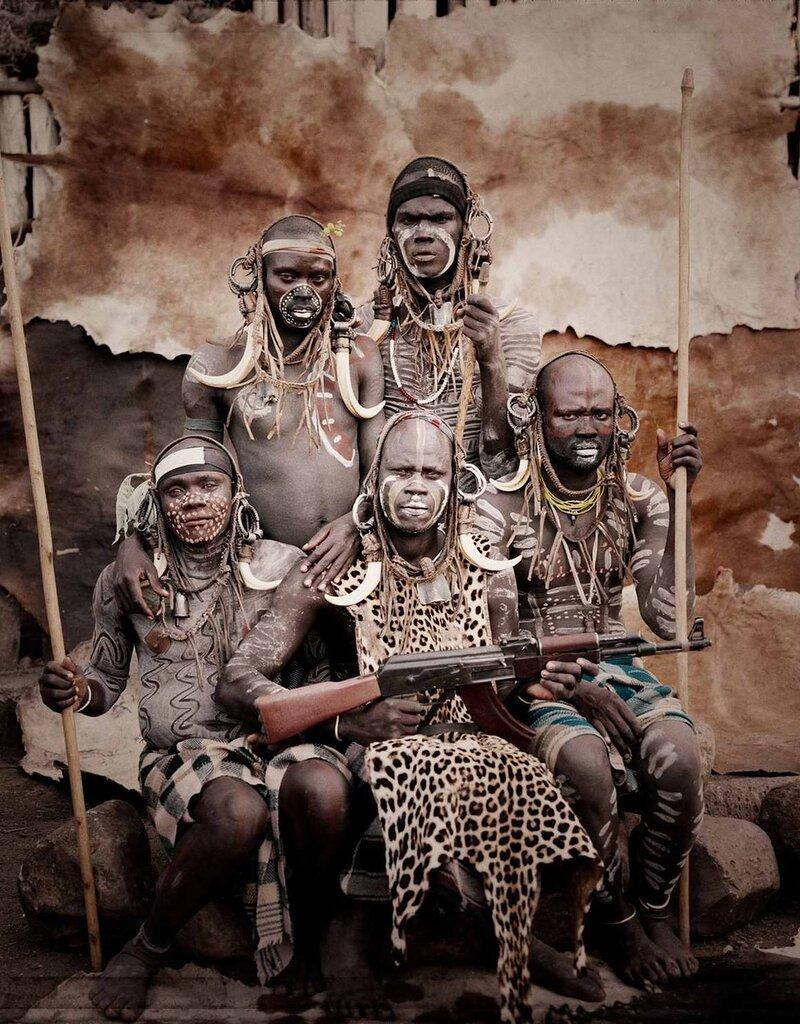 Представители эфиопского племени мурси (2)