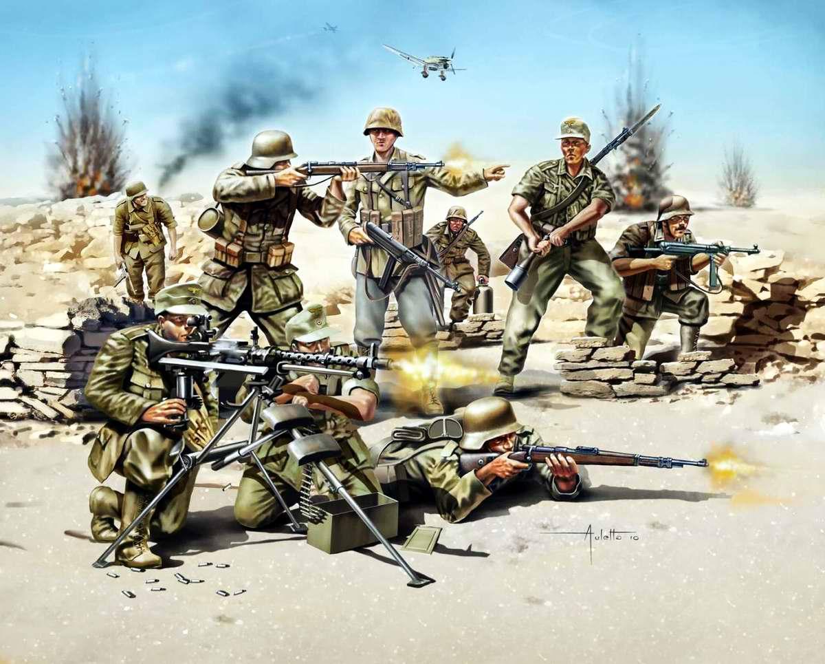 Немецкая пехота из африканского корпуса