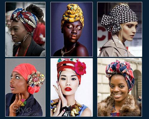 платок на голову в африканском стиле, тюрбан