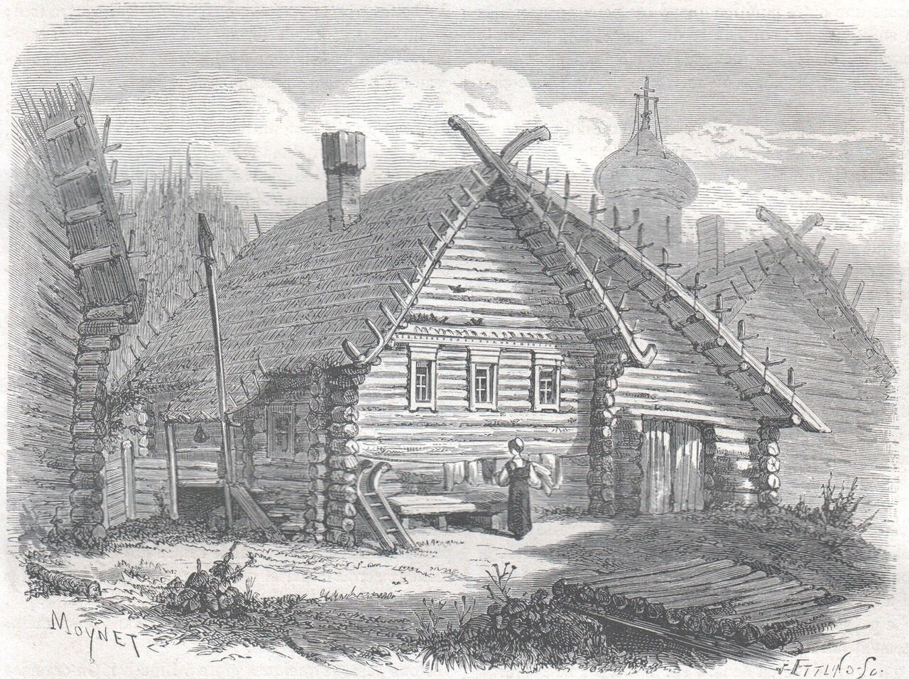 1867. Русская деревня