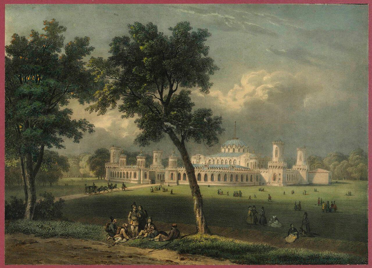 Вид Петровского дворца в Москве