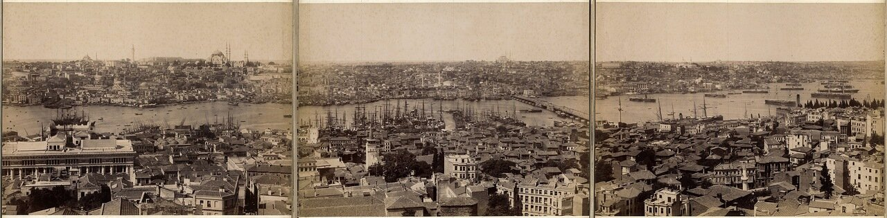 1880. Панорама Константинополя