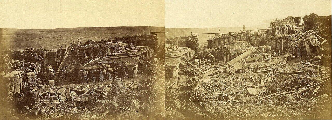 1855. Панорама редана после того, как был он оставлен русскими, Севастополь, Крым