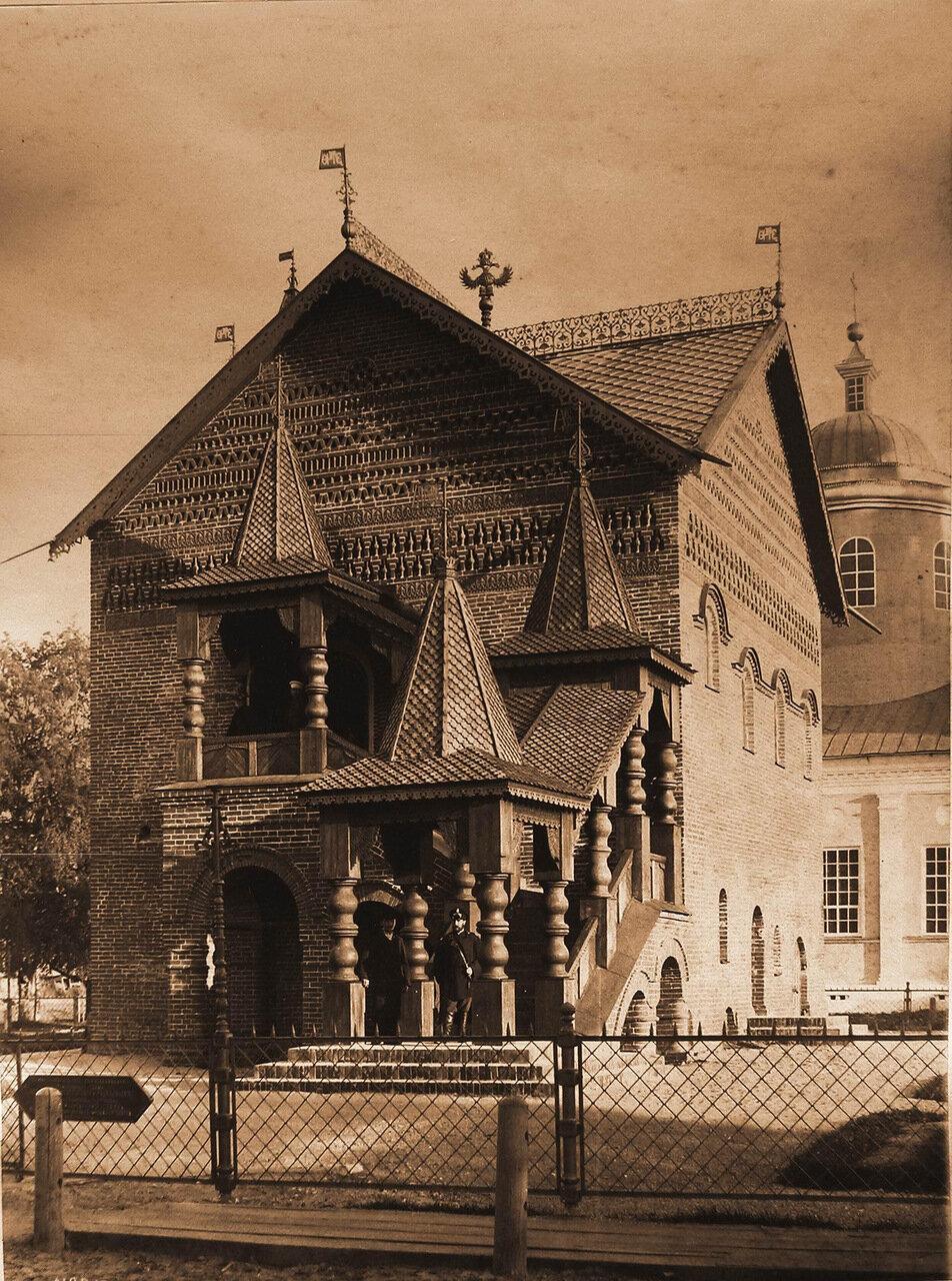 Вид на дворец (палаты) царевича Димитрия в Кремле (постройка 1482 г.)
