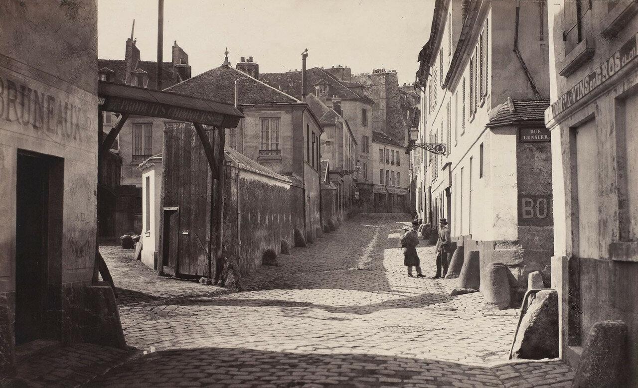 1865-1868. Рю Вьей-Нотр-Дам, вид с рю Пон-а-Биш