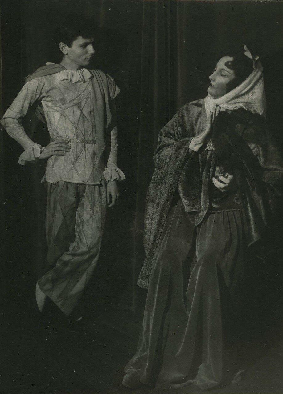 1950. Клод Ромейн в Театре полуночников