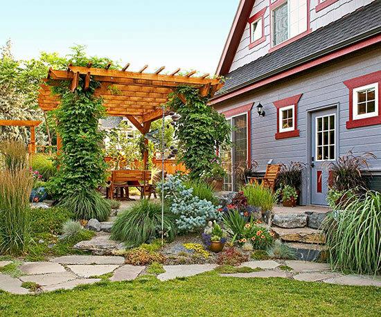 Садовые дворики. Ландшафтный дизайн  - фото 47