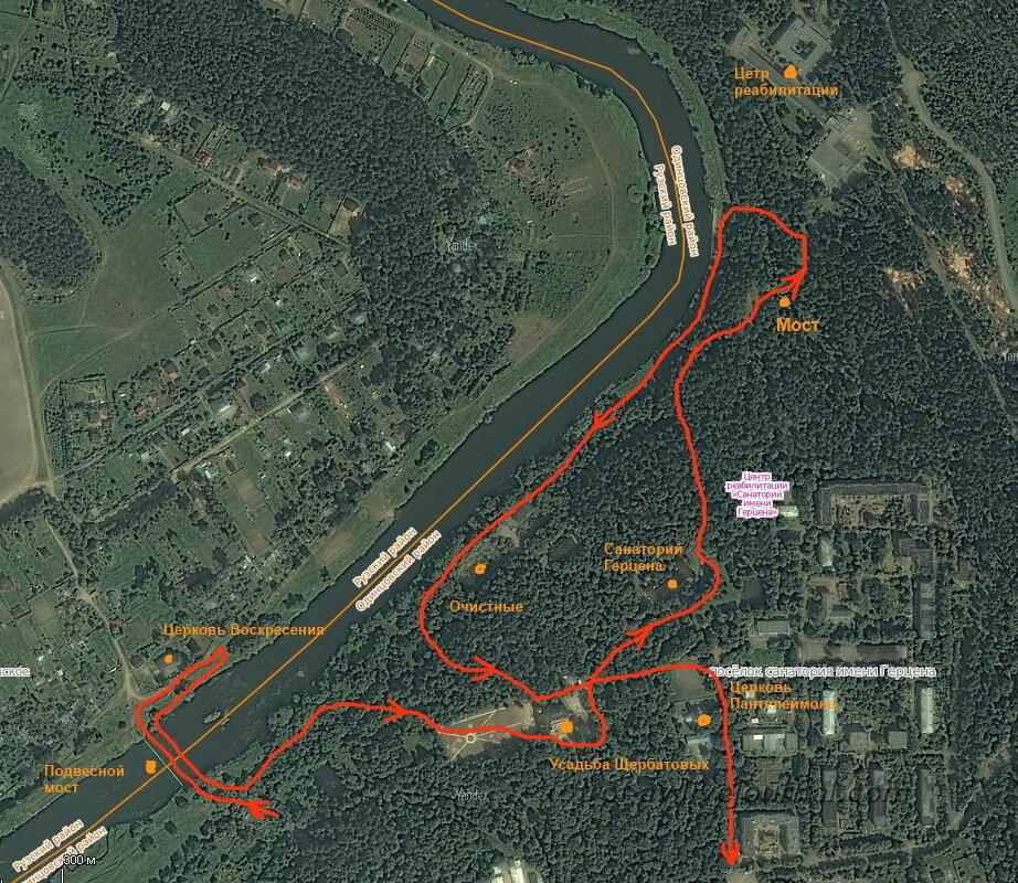 Схема прогулки по Герцена