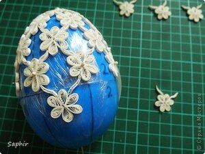 Ажурное бумажное яйцо к Пасхе