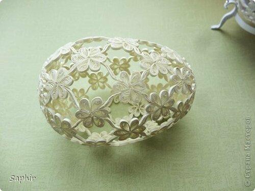 Декоративные пасхальные яйца: оформление и идеи Ажурное бумажное яйцо к Пасхе