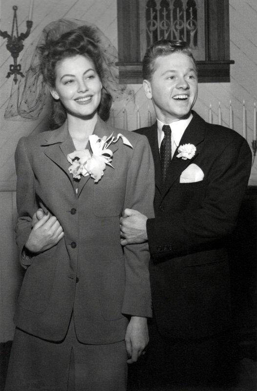 Ава Гарднер и её муж Микки Руни